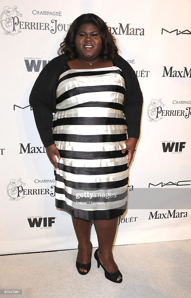 Actress Gabourey Sidibe arrives at the 3rd Annual Women In Film Pre-Oscar Party at a private residence in Bel Air on March 4, 2010 in Los Angeles, California.