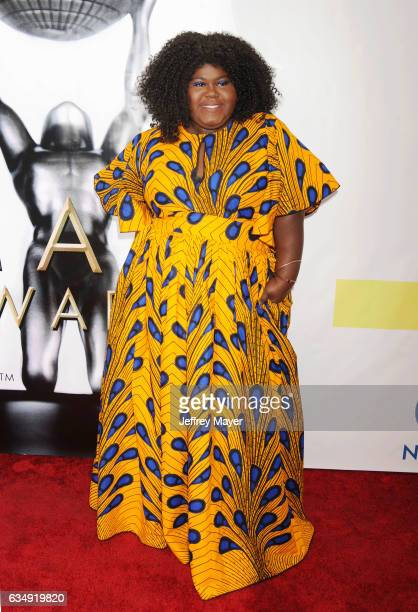 Actress Gabourey Sidibe arrives at the 48th NAACP Image Awards at Pasadena Civic Auditorium on February 11 2017 in Pasadena California