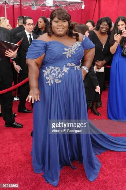 Actress Gabourey Sidibe arrives at the 82nd Annual Academy Awards held at Kodak Theatre on March 7 2010 in Hollywood California