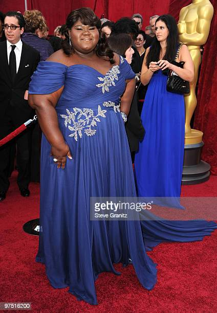 Actress Gabourey Sidibe arrives at the 82nd Annual Academy Awards held at the Kodak Theatre on March 7, 2010 in Hollywood, California.