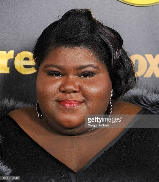 Actress Gabourey Sidibe arrives at the red carpet premiere of Empire at ArcLight Cinemas Cinerama Dome on January 6 2015 in Hollywood California