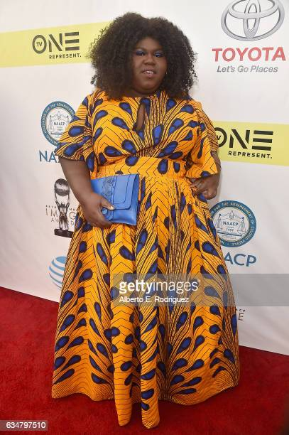 Actress Gabourey Sidibe attends the 48th NAACP Image Awards at Pasadena Civic Auditorium on February 11 2017 in Pasadena California