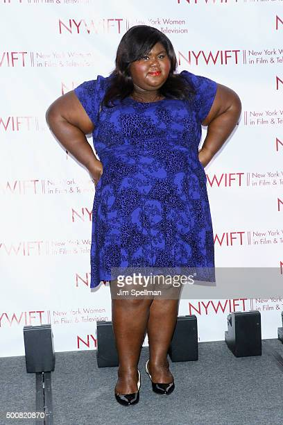 Actress Gabourey Sidibe attends the New York Women In Film And Television's 35th Annual Muse Awards at New York Hilton on December 10 2015 in New...