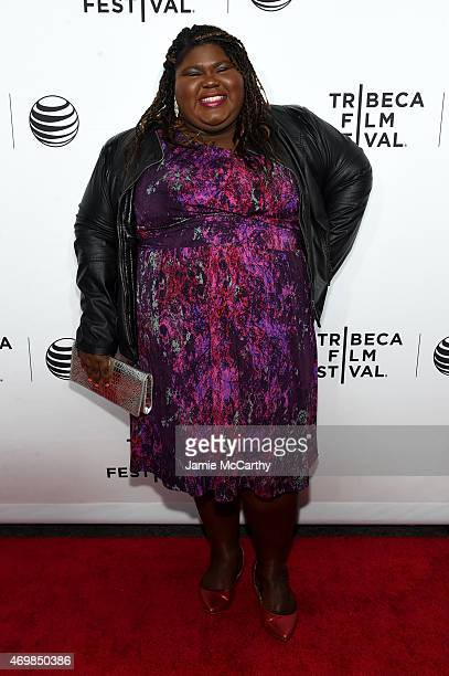 Actress Gabourey Sidibe attends the Opening Night premiere of Live From New York during the 2015 Tribeca Film Festival at the Beacon Theatre on April...
