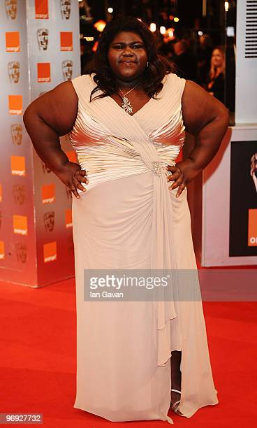 Actress Gabourey Sidibe attends the Orange British Academy Film Awards 2010 at the Royal Opera House on February 21 2010 in London England