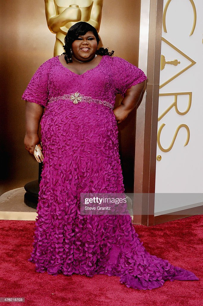 Actress Gabourey Sidibe attends the Oscars held at Hollywood & Highland Center on March 2, 2014 in Hollywood, California.