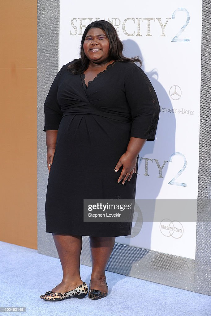 Actress Gabourey Sidibe attends the premiere of 'Sex and the City 2' at Radio City Music Hall on May 24, 2010 in New York City.