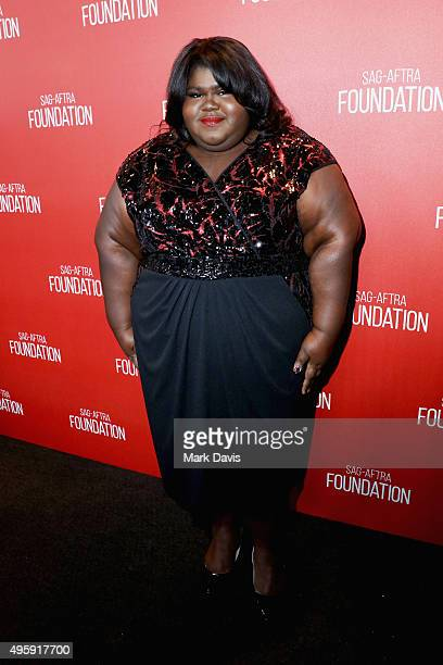 Actress Gabourey Sidibe attends the Screen Actors Guild Foundation 30th Anniversary Celebration at Wallis Annenberg Center for the Performing Arts on...