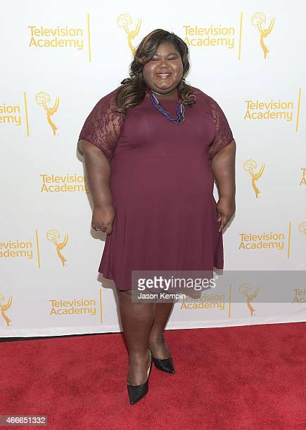 Actress Gabourey Sidibe attends the Television Academy Presents An Evening With The Women Of 'American Horror Story' at The Montalban on March 17...