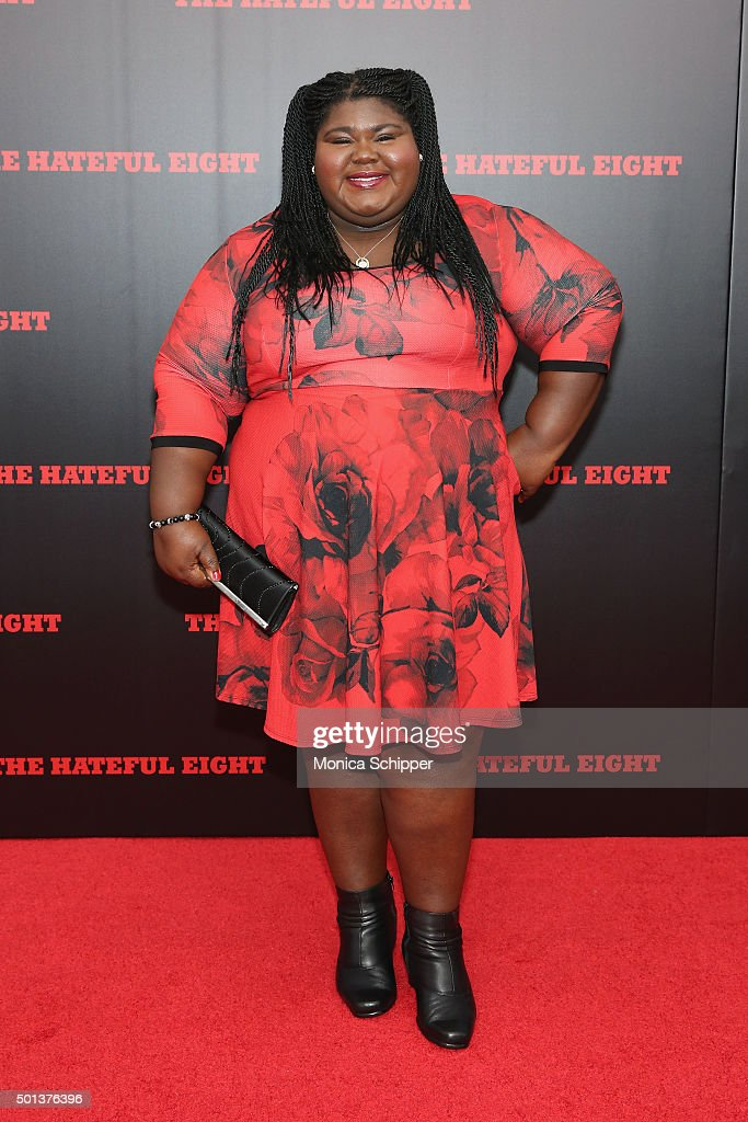 Actress Gabourey Sidibe attends the The New York Premiere Of 'The Hateful Eight' on December 14, 2015 in New York City.