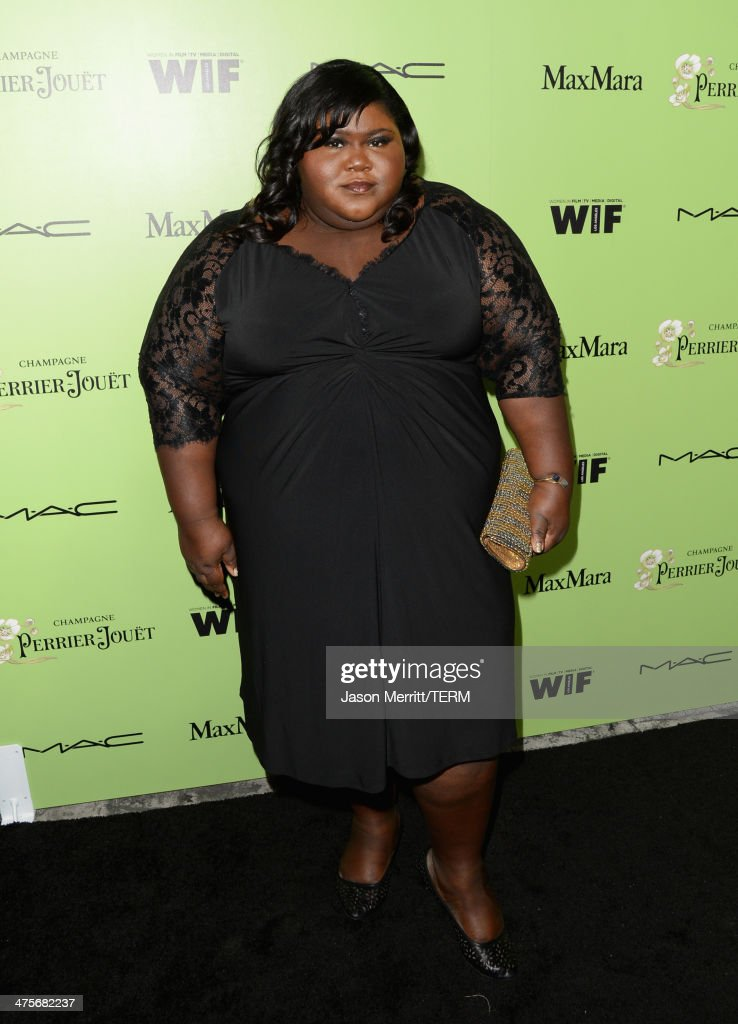 Actress Gabourey Sidibe attends the Women In Film Pre-Oscar Cocktail Party presented by Perrier-Jouet, MAC Cosmetics & MaxMara at Fig & Olive Melrose Place on February 28, 2014 in West Hollywood, California.