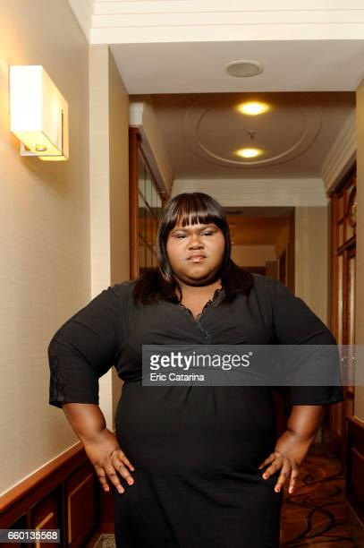 Actress Gabourey Sidibe is photographed for Self Assignment on February 17 2011 in Berlin Germany