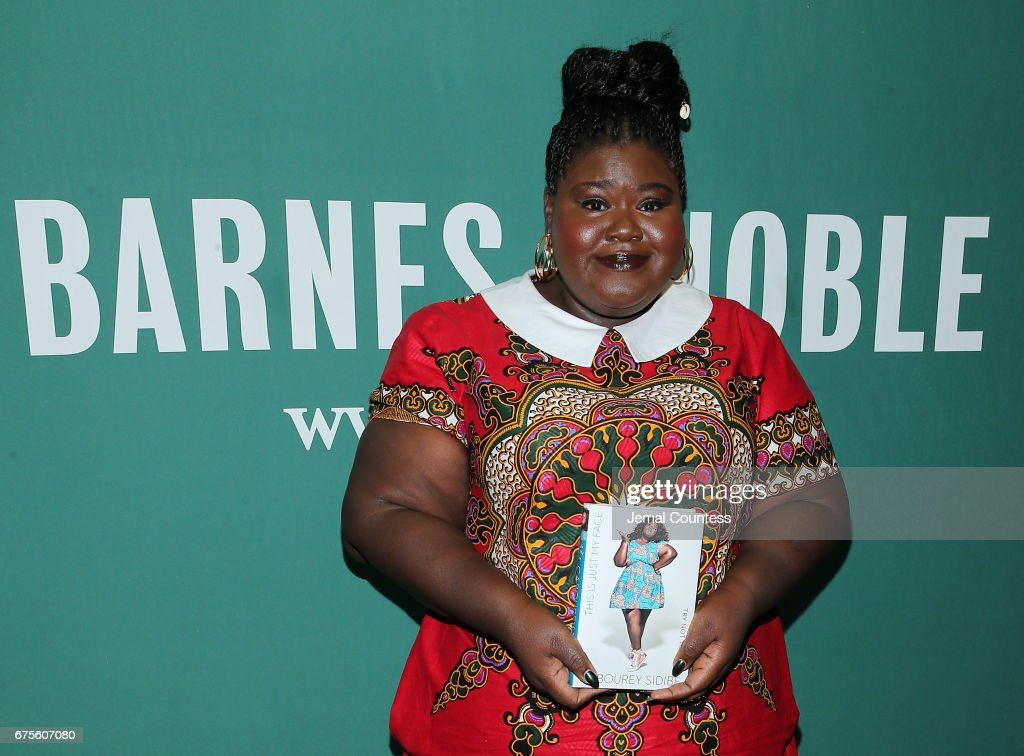"""Gabourey Sidibe Signs Copies Of Her New Book """"This Is Just My Face: Try Not To Stare"""" : News Photo"""