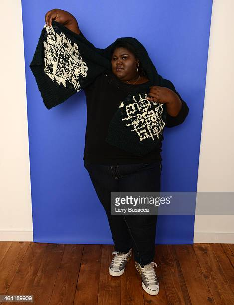 Actress Gabourey Sidibe poses for a portrait during the 2014 Sundance Film Festival at the Getty Images Portrait Studio at the Village At The Lift...