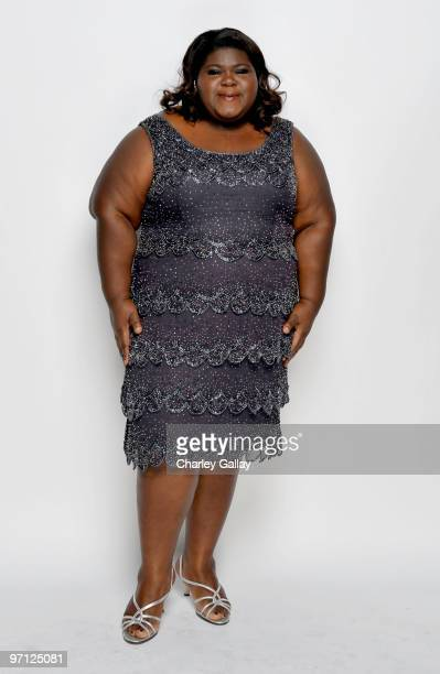 Actress Gabourey Sidibe poses for a portrait during the 41st NAACP Image awards held at The Shrine Auditorium on February 26 2010 in Los Angeles...