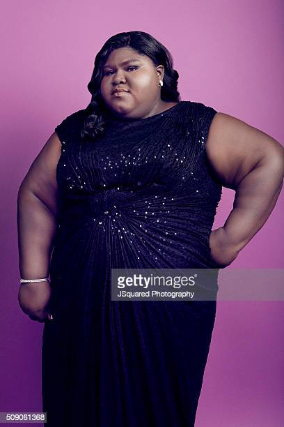 Actress Gabourey Sidibe poses for a portrait during the 47th NAACP Image Awards presented by TV One at Pasadena Civic Auditorium on February 5 2016...