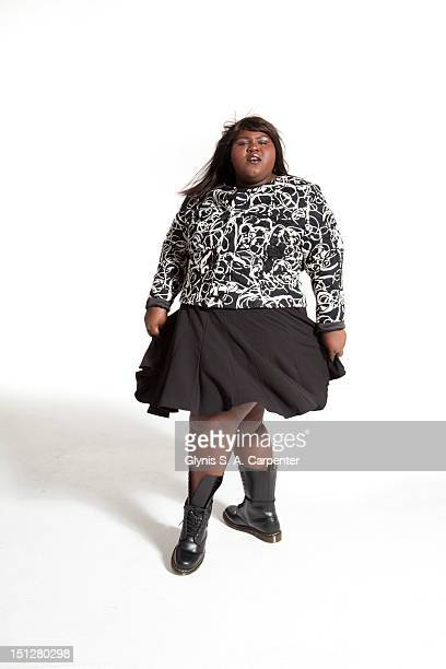 Actress Gabourey Sidibe poses for L'Officiel Magazine on November 1 2010 in New York City
