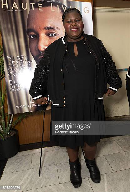 Actress Gabourney Gabby Sidibe attends the Haute Living Celebrates San Francisco's Lee Daniels Cover Launch with Louis XIII and RollsRoyce at Delilah...