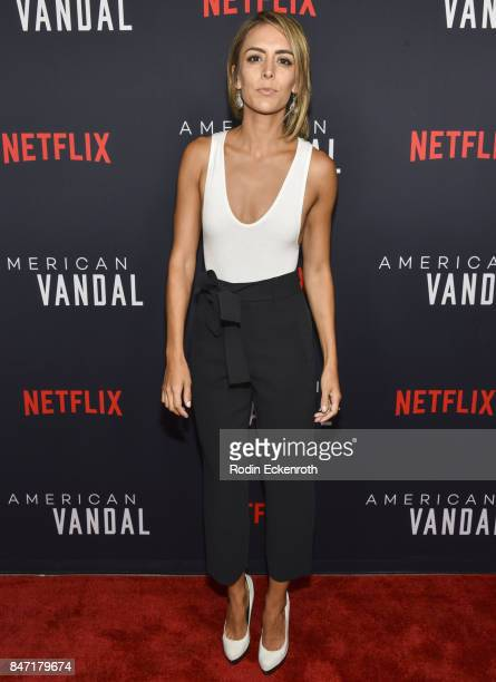Actress Gabriela Fresquez attends the premiere of Netflix's American Vandal at ArcLight Hollywood on September 14 2017 in Hollywood California