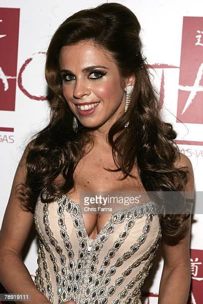 Actress Gabriela Rossi arrives at a naughty night to remember at TAO Nightclub at The Venetian Hotel and Casino Resort on January 12 2008 in Las...