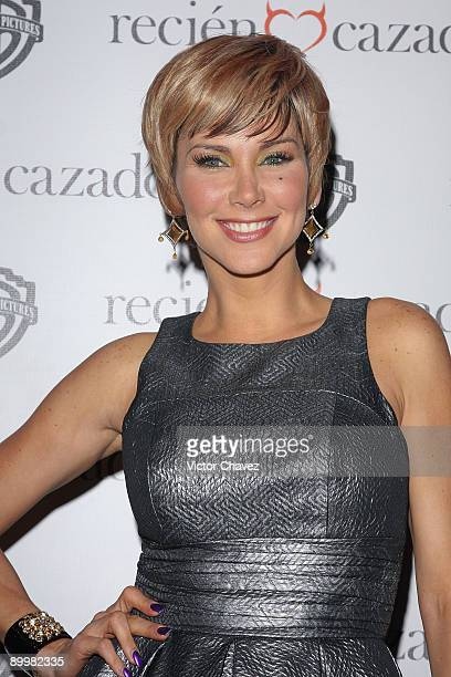 Actress Gabriela Vergara attends the premiere of Recien Cazado at Plaza Cuicuilco on August 20 2009 in Mexico City Mexico
