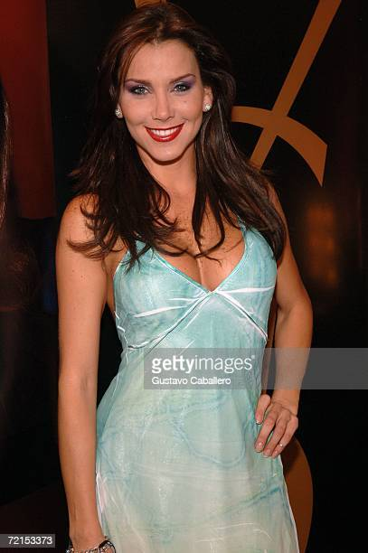Actress Gabriela Vergara poses at The Carnival Center for the performing Arts during Fashion Week Miami Beach on October 11 2006 in Miami Florida