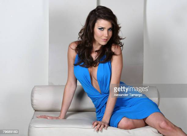 Actress Gabriela Vergara poses during the Eventos Magazine cover shoot at Cielo Garden and SUpperclub on February 8 2008 in Coconut Grove Florida