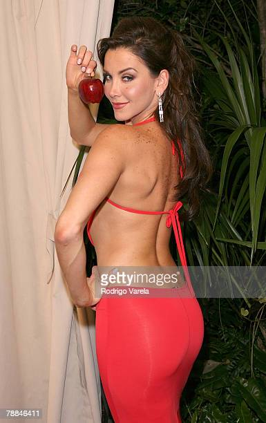 Actress Gabriela Vergara poses during Univision's new soap opera 'Amas de Casa Desesperadas' launch party at Karu and Y January 8 2008 in Miami...