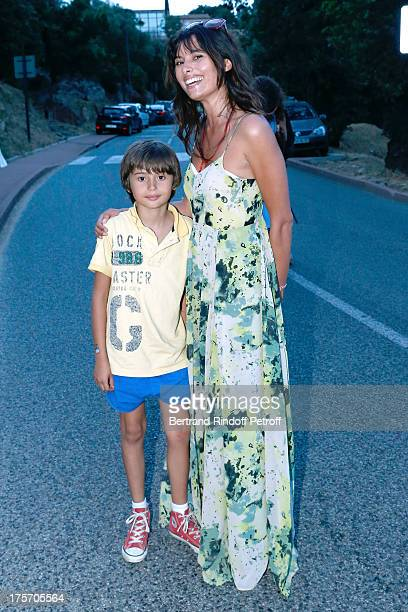 Actress Gabriela White and her son Mickael Sean attend Magician Eric Antoine's show 'Le mix sous les etoiles' on day 7 of the 29th Ramatuelle...