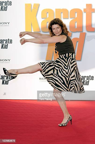 Actress Gabriele Scharnitzky attends the 'Karate Kid' Germany Premiere at Sony Center Potsdamer Platz on July 19 2010 in Berlin Germany