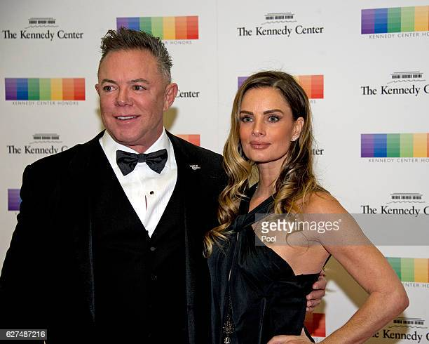 Actress Gabriella Anwar and guest arrive for the formal Artist's Dinner honoring the recipients of the 39th Annual Kennedy Center Honors hosted by...