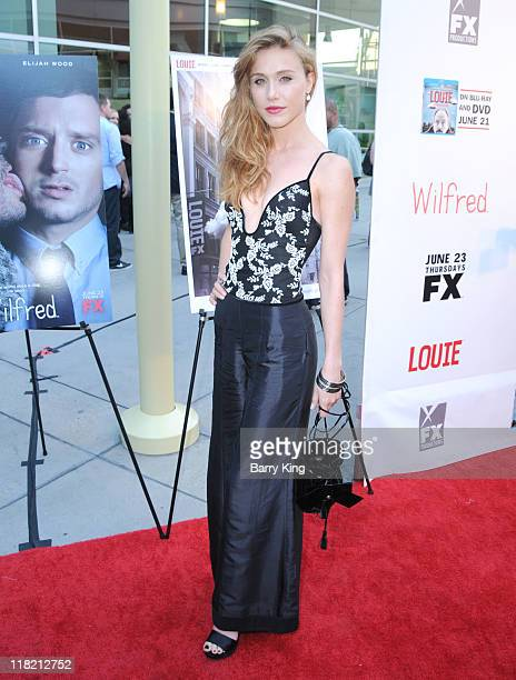 Actress Gabriella Pession arrives at FX Network premiere of Wilfred and season two launch of Louie at ArcLight Hollywood on June 20 2011 in Hollywood...