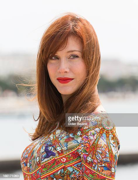 Actress Gabriella Pession poses during a photocall for the TV Series 'Crossing Lines' at MIP TV 2013 on April 9 2013 in Cannes France