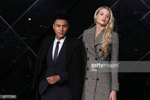 Actress Gabriella Wilde and actor Chen Kun attend Burberry's new watch collection 'The Britain' launch at Burberry flagship store on November 29 2012...