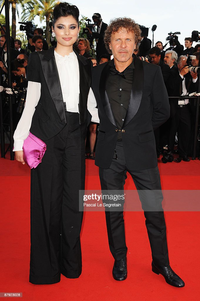 Actress Gabriella Wright and Renzo Rosso attend the Inglourious Basterds Premiere held at the Palais Des Festivals during the 62nd International Cannes Film Festival on May 20th, 2009 in Cannes, France.