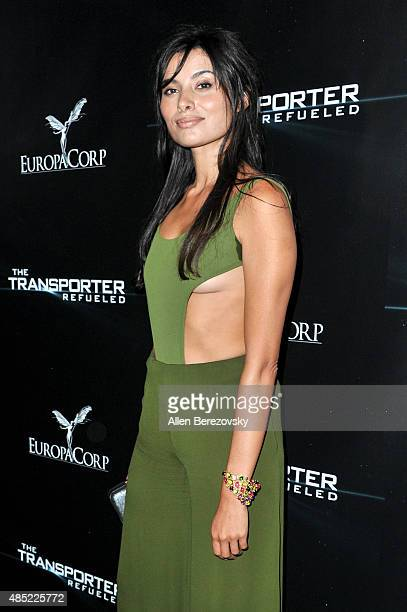 Actress Gabriella Wright attends a special screening and afterparty for EuropaCorp's 'The Transporter Refueled' held at The Playboy Mansion on August...