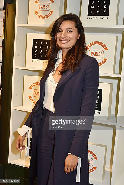 Actress Gabriella Wright attends the ''Paris' Exhibition Unveiling Cocktail Party at Le Bon Marche on September 7 2016 in Paris France
