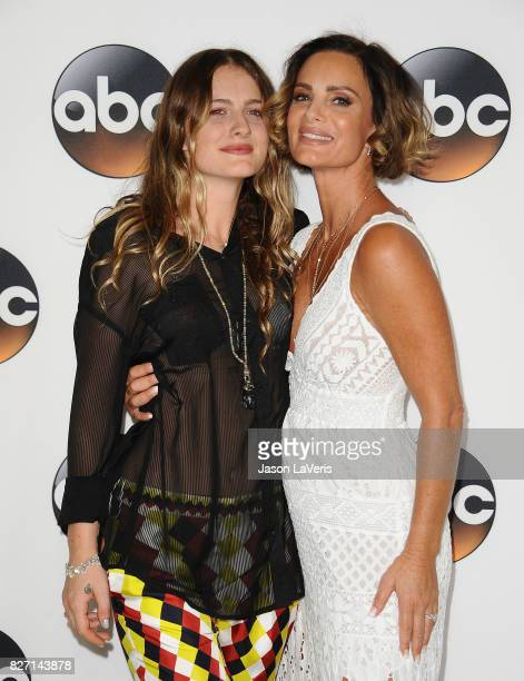 Actress Gabrielle Anwar and daughter Willow Anwar attends the Disney ABC Television Group TCA summer press tour at The Beverly Hilton Hotel on August...