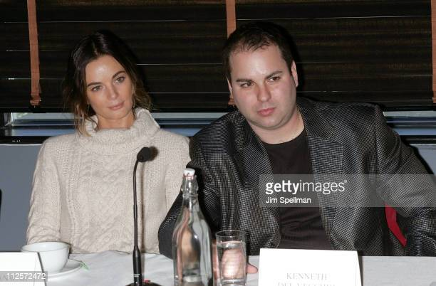 Actress Gabrielle Anwar and HIFF Chairman Kenneth Del Vecchio attend the 2008 Hoboken International Film Festival Press Conference at the Harbor Bar...