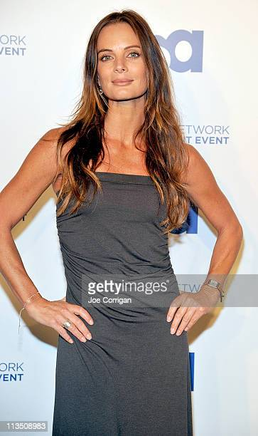 Actress Gabrielle Anwar attends the 2011 USA Upfront at The Tent at Lincoln Center on May 2 2011 in New York City