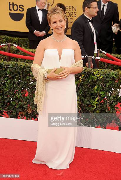 Actress Gabrielle Carteris arrives at the 21st Annual Screen Actors Guild Awards at The Shrine Auditorium on January 25 2015 in Los Angeles California