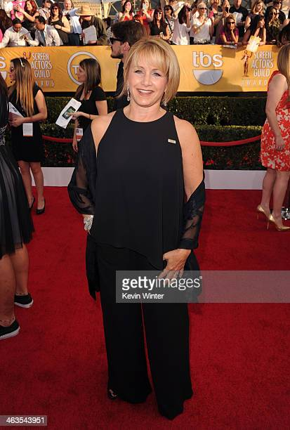 Actress Gabrielle Carteris attends 20th Annual Screen Actors Guild Awards at The Shrine Auditorium on January 18 2014 in Los Angeles California