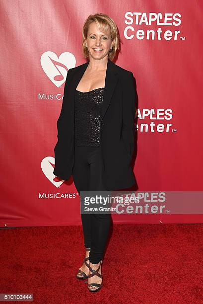 Actress Gabrielle Carteris attends the 2016 MusiCares Person of the Year honoring Lionel Richie at the Los Angeles Convention Center on February 13...