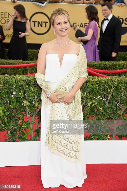 Actress Gabrielle Carteris attends the 21st Annual Screen Actors Guild Awards at The Shrine Auditorium on January 25 2015 in Los Angeles California
