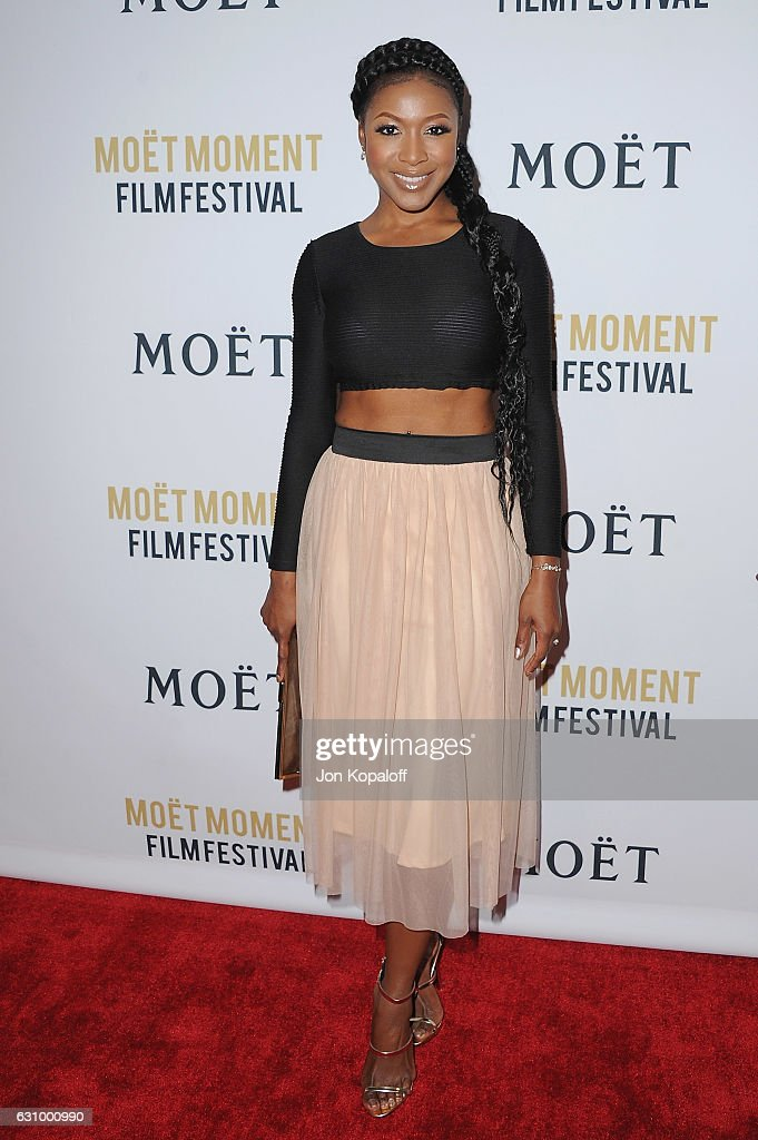 Actress Gabrielle Dennis arrives at Moet And Chandon Celebrates 2nd Annual Moet Moment Film Festival And Kick Off Of Golden Globes Week at Doheny Room on January 4, 2017 in West Hollywood, California.