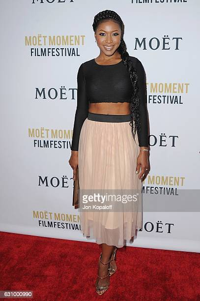 Actress Gabrielle Dennis arrives at Moet And Chandon Celebrates 2nd Annual Moet Moment Film Festival And Kick Off Of Golden Globes Week at Doheny...