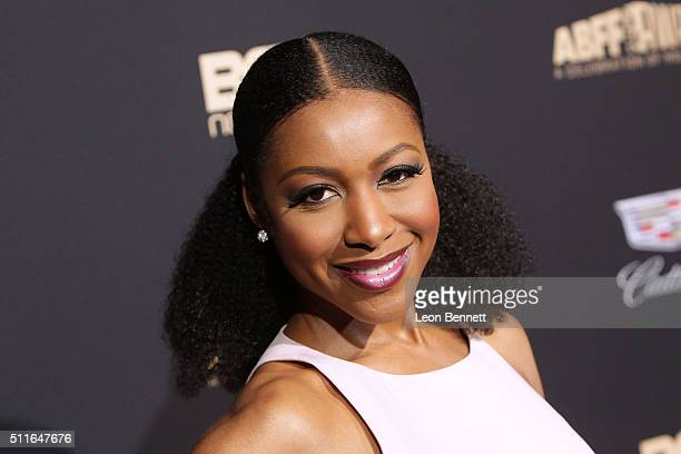 Actress Gabrielle Dennis arrives to the 2016 American Black Film Festival Awards Gala at The Beverly Hilton Hotel on February 21 2016 in Beverly...