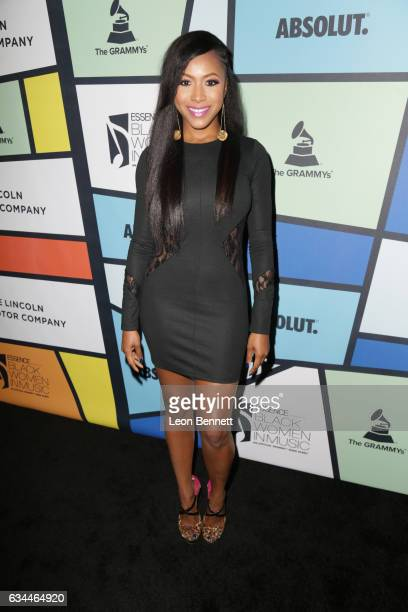 Actress Gabrielle Dennis attends 2017 Essence Black Women in Music at NeueHouse Hollywood on February 9 2017 in Los Angeles California