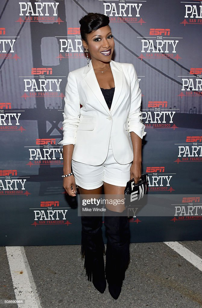 Actress Gabrielle Dennis attends ESPN The Party on February 5, 2016 in San Francisco, California.