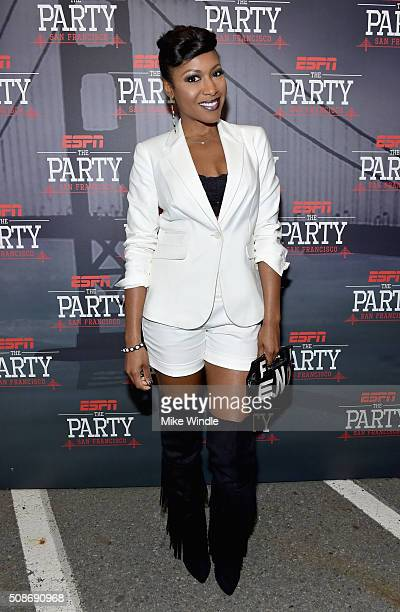 Actress Gabrielle Dennis attends ESPN The Party on February 5 2016 in San Francisco California